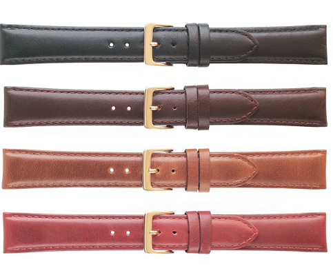 K531 Classic Oilskin Leather Watchbands--Black