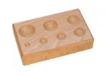 DAP155.00 Hardwood Forming Block--Round Impressions-Eurotool