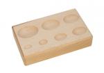 DAP157.00 Hardwood Forming Block--Oval Impressions -Eurotool