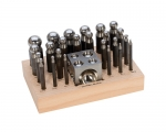 DAP-705.00 Deluxe dapping Set--24 Punches & 1 Block- Eurotool- Special Order