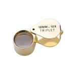 EL402/2 10X Hastings Triplet Loupe/Gold Eurotool ELP-750.02