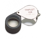 EL411/5 10X Hastings Triplet Loupe with Rubber Grip/Chrome Eurotool ELP-759.13