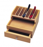 PR309 Wood Plier Rack with storage drawer
