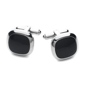 ID108 Stainless Steel Cufflinks with Black Onyx