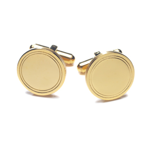 ID112 Ion Gold Plate Cufflinks