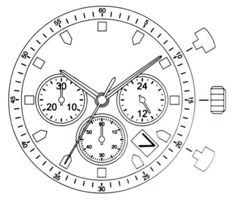 MIYJS25 Miyota Quartz Watch Movement