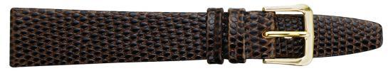 K311.1 Flat Lizard Grain Leather Watch Bands- Black New! Alpine