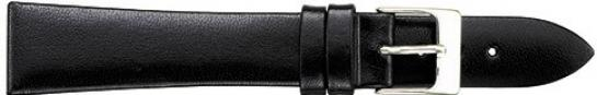 K315.1 Smooth Polished Leather Watch Bands- Black New! Alpine