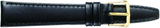K332.1 Flat Stitched Leather Watch Bands- Black New! Alpine