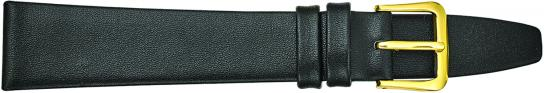 K335.1 Smooth Plain Leather Watch Bands- Black New! Alpine