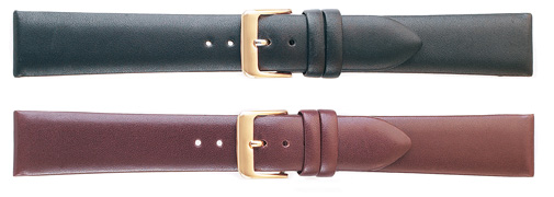K162 Luxury Calf Leather Watchbands--Brown