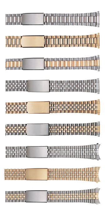 "K397Y WBHQ Mens Metal Classic Bracelet 16-21mm 71/2""  Ion Gold Plate"