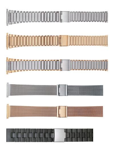"K403W WBHQ Mens Metal Dress Bracelet 18-22mm 7 1/2""  Stainless Steel"