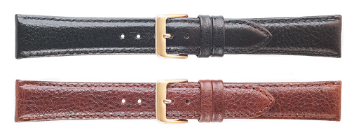 K832 Polished Calf Leather Watchbands--Brown