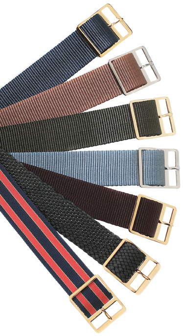 WB3609--Mens's Nylon Straps- 18mm-- choice of colors