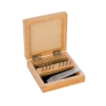 TAP-135.50 Small Tap & Die Set in wood box--14 Piece-- Eurotool .70mm - to 2.00 mm