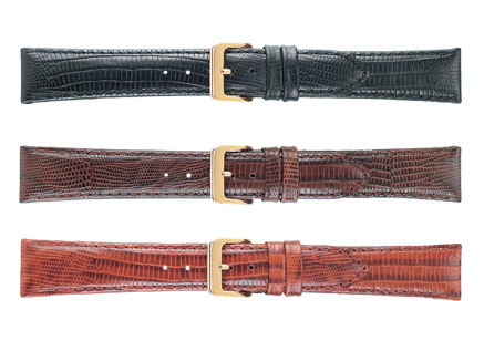 K262-20 WBHQ Teju Grain Leather Watchband- Brown