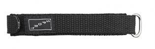 V1016.01 Velcro Style Nylon Sport Band Black 16mm New! Alpine