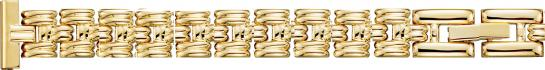 Y403 Metal Watchband Yellow- Solid Links 12mm-- Alpine